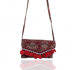 Indian Stylish Cotton crossbody sling bag / Purse for women and girls