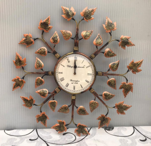 Accents Round shaped  Leaf Petals wall clock /wall decor