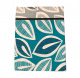 sophisticated  leaf design double bedsheet with 2 pillow covers