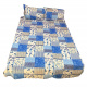 Cotton Single Bedsheet Simple and elegant designed with Two Pillow Covers