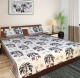 Jaipuri Elephant Tree Printed Cotton Double Bedsheet / Bedspread with Two Pillow Covers
