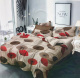 Brown Bedsheet with Circular Flowers for Home Decor