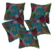Floral Print Cushion Cover / Sofa Throw Pillow Case  (Set of 5)