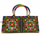 Women Traditional Hand Clutch Ladies Embroideries Wallet, Black