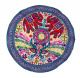 Traditional Jaipuri Embroidery Round Table Cloth /Throw for Exotic Home Decoration