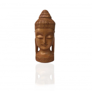 Decorative Wooden Meditation Mahatma Buddha Head figurine